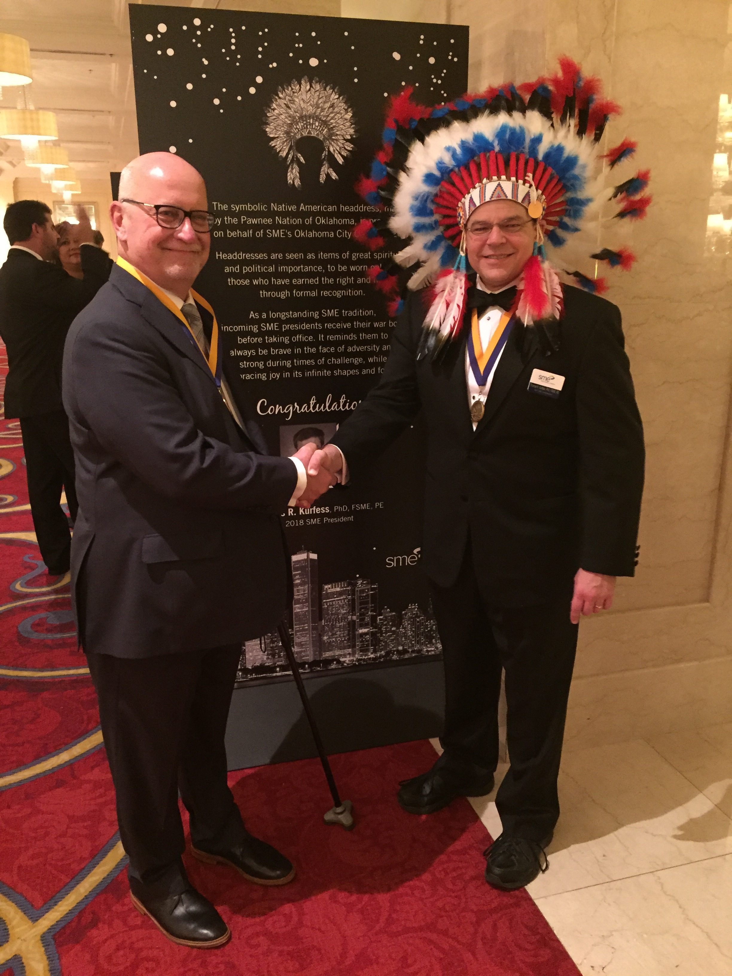 NCDMM's Ralph Resnick was elected to the 2018 SME International Directors and Dr. Tom Kurfess was elected 2018 President of SME at the annual SME Awards & Installation Banquet, Nov. 4, 2017.