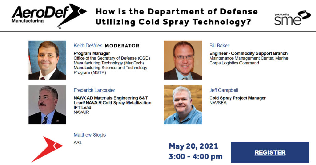 How is the DoD Utilizing Cold Spray Technology?